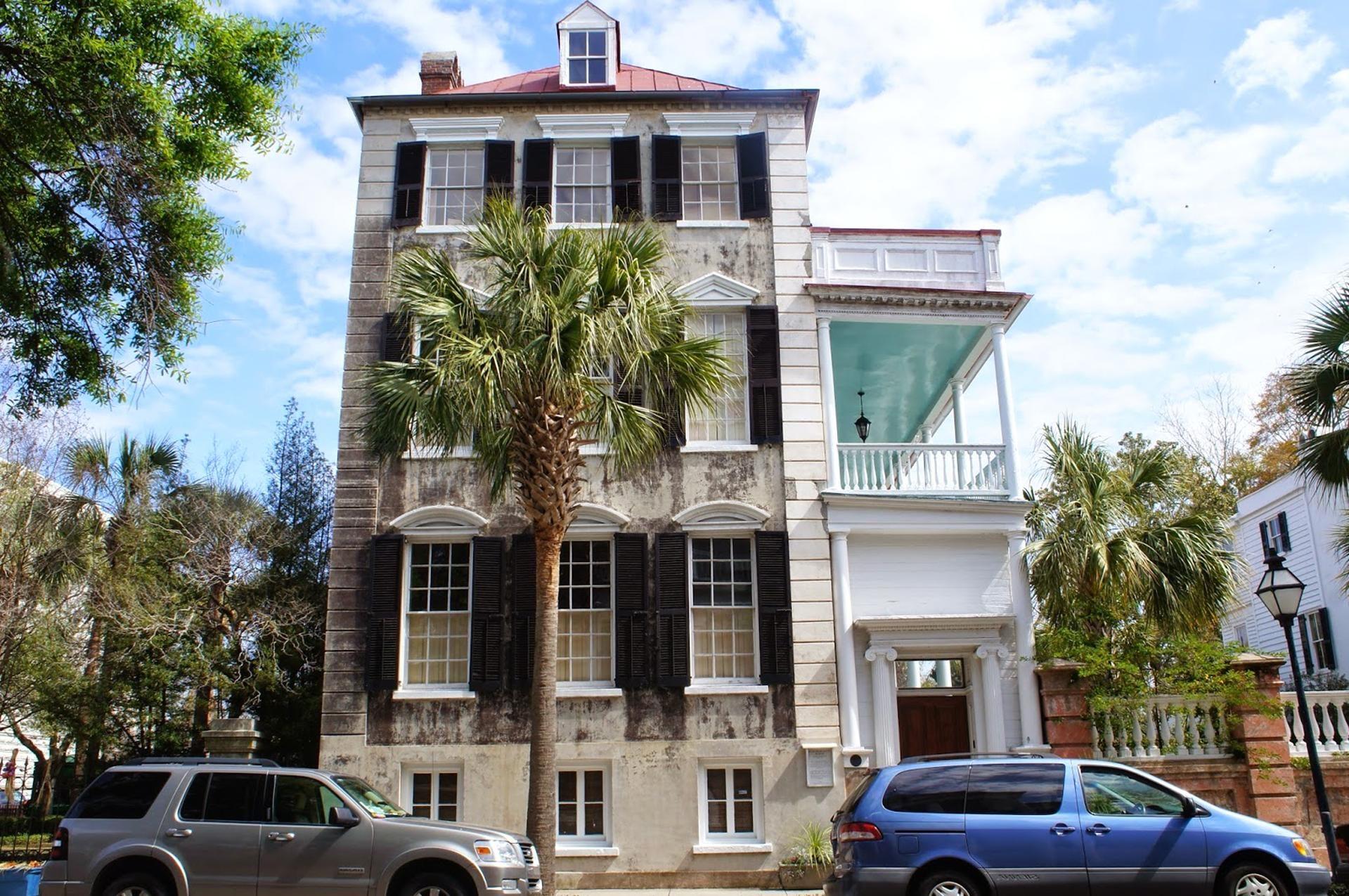 Palme, Städtisch, Architektur, Luxus, Haus, Straße, Außen, Fassade, Palast