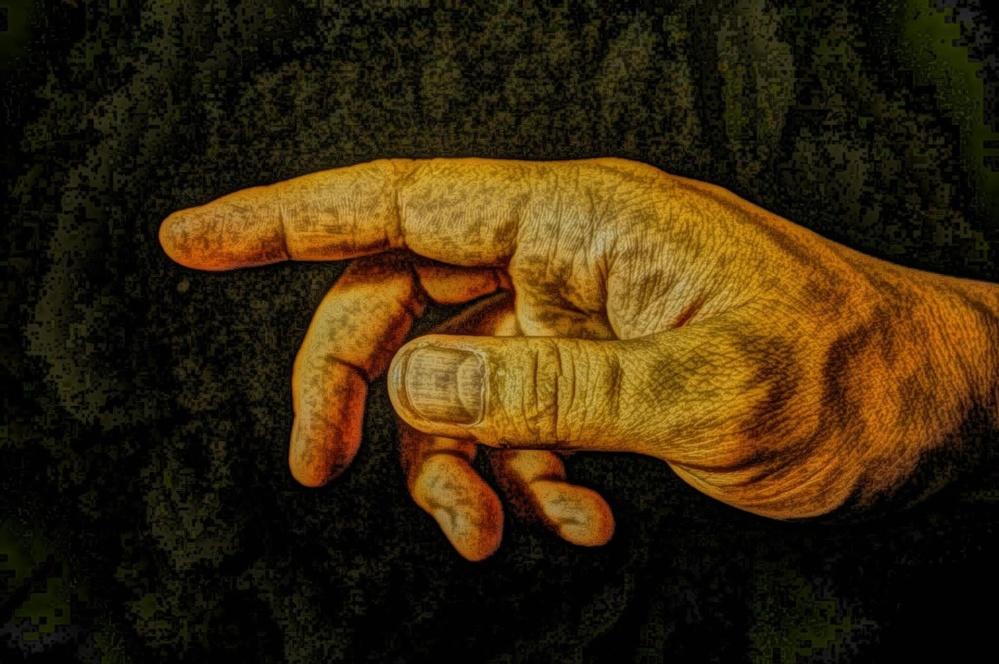 art, oil painting, hand, finger, painting