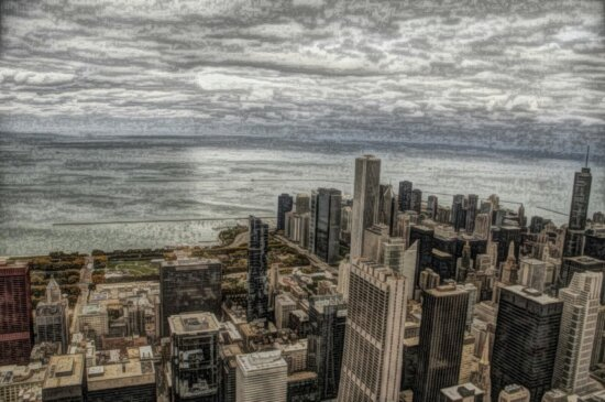 art, photomontage, city, architecture, cityscape, water, urban
