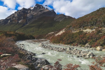 water, mountain, landscape, river, nature, valley