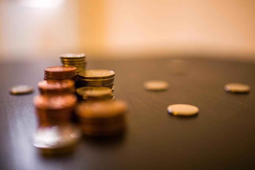 Monedas, metal, dinero, valor, economía