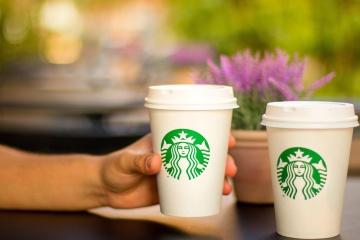 Café, tasse, expresso, boisson, cappuccino, tasse, main, doigt, boisson