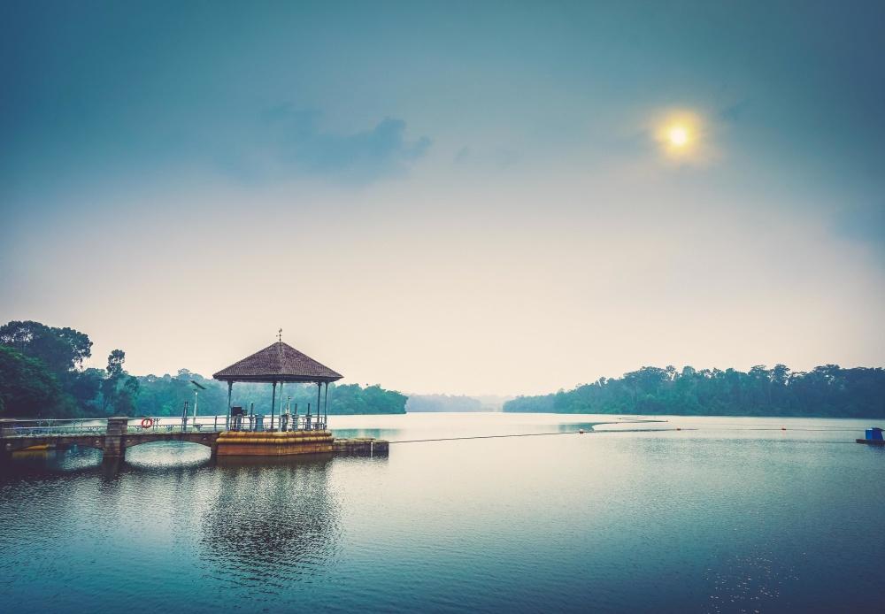 Laguna, apa, dawn, apus de soare, reflecţie, mare, cer, portul, peisaj