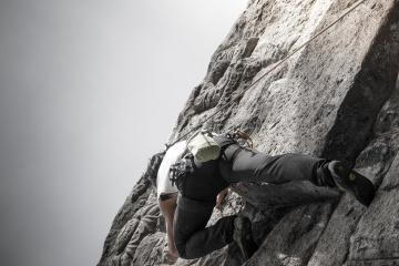mountain climbing, courage, man, sport, rope, challenge, action