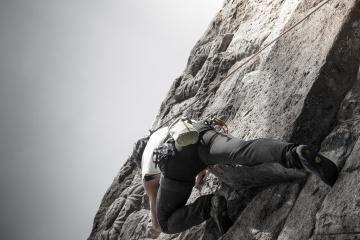 bjerg klatring, modet, mand, sport, reb, udfordring, action