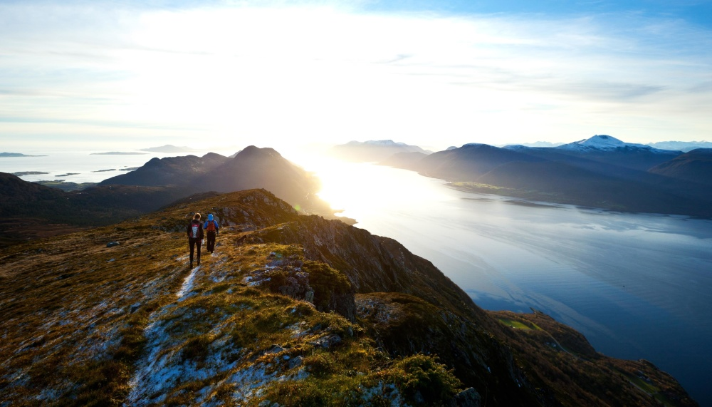 bjerg klatring, mountain, landskab, sport, bjergtop, vand, shore