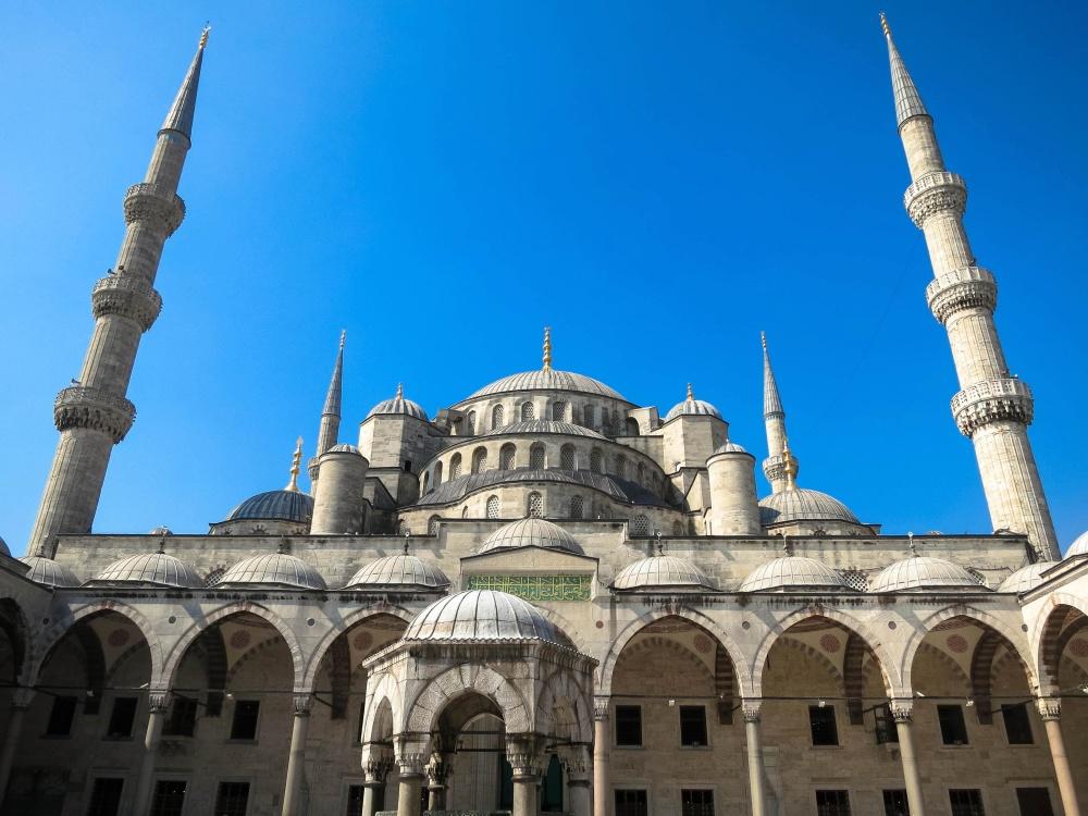 Skammel, moske, arkitektur, religion, dome, minaret, udvendige