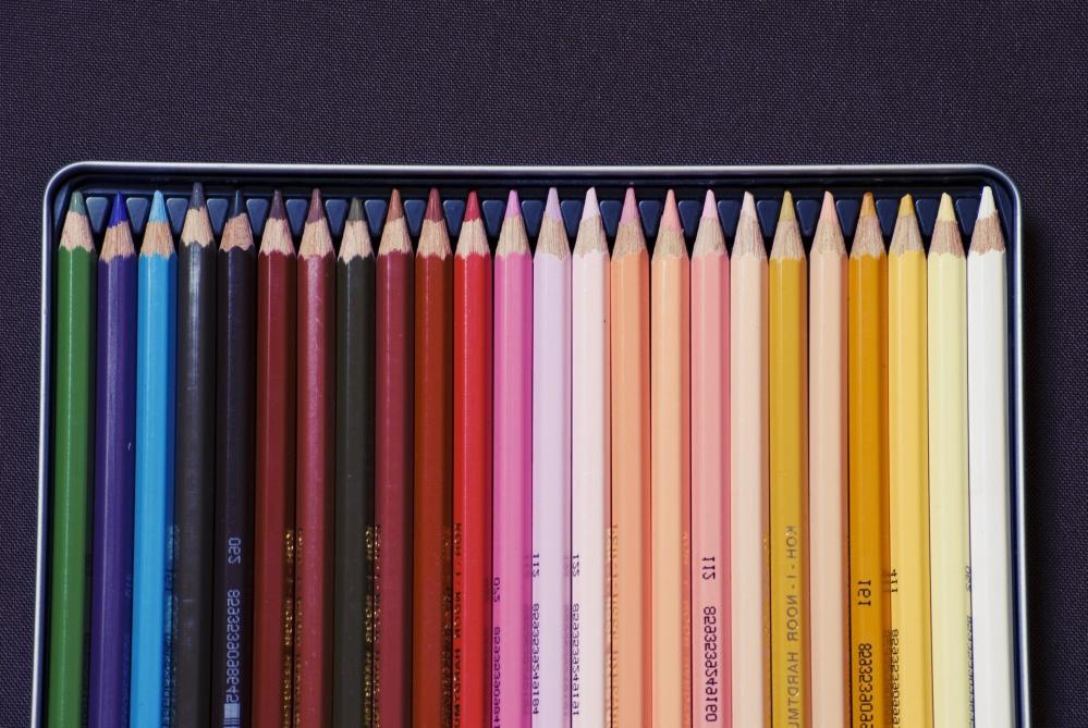 tužky, kreslení, umění, pastelka, barvy, barevné, objekt