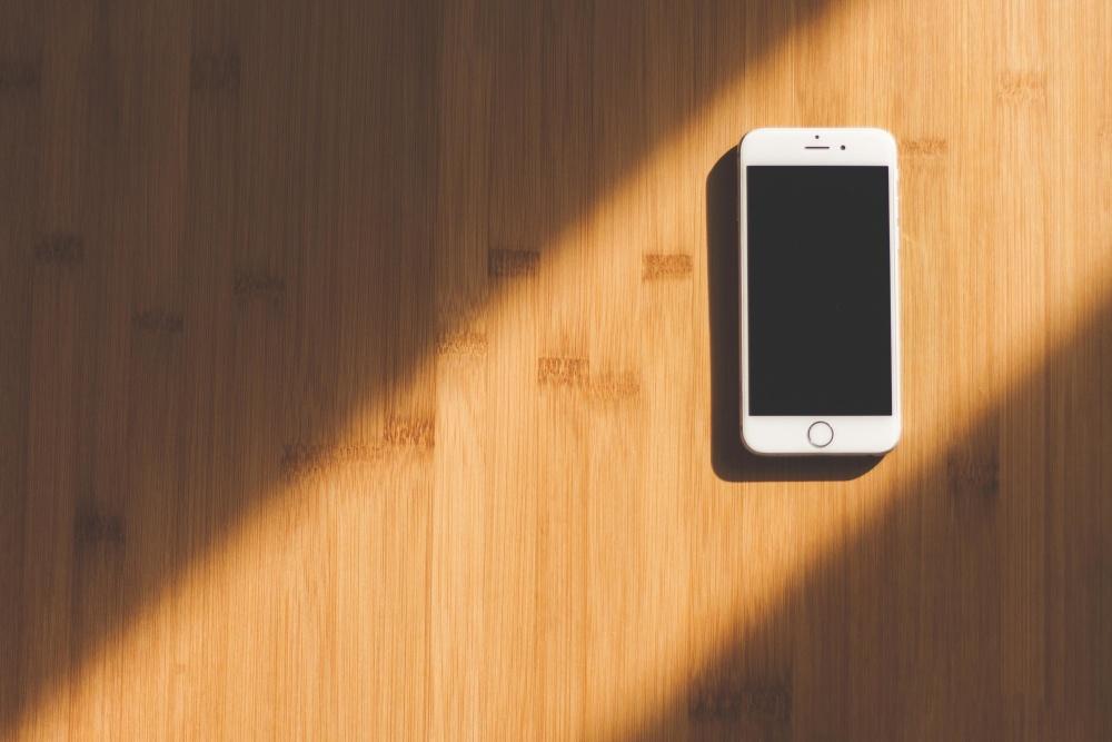 mobiltelefon, skygge, lys, teknologi