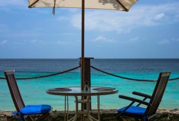 Eau, chaise, été, soleil, plage, mer, paysage