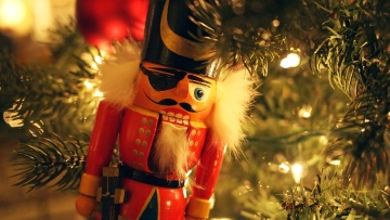 Christmas, decoration, toy, colorful, conifer, celebration