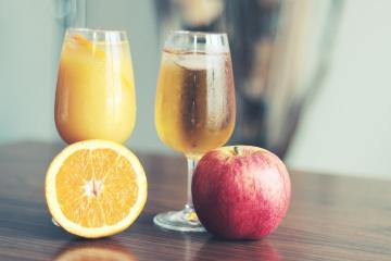Frutta, succo, frutta, cibo, vetro, agrumi, mela, cocktail di frutta, bevanda