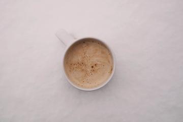 kofein, cappuccino, snídaně, hrnek, káva, nápoje, espreso