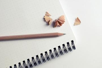 papir, blyant, minimalisme, object