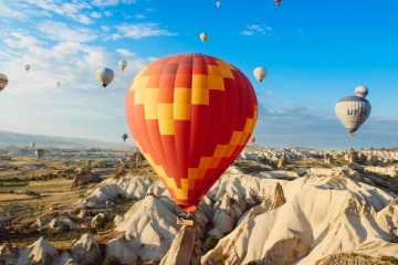 Ballon, aventure, ciel, aérien, air, avion, sport
