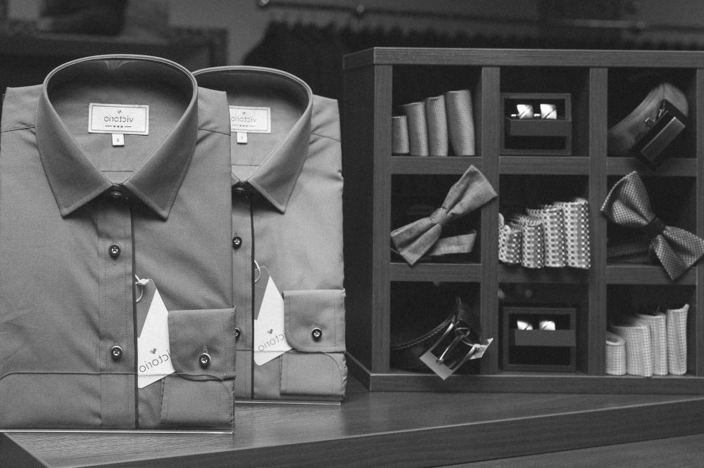 košeľu, kravatu, móda, moderné, supermarket, monochromatický, látkové