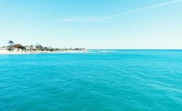 ostrov, voda, pláž, moře, tyrkysová, léto, oceán, písek, obloha, pobřeží, horizont
