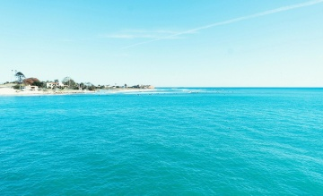 Isla, agua, playa, mar, turquesa, verano, océano, arena, cielo, costa, horizonte