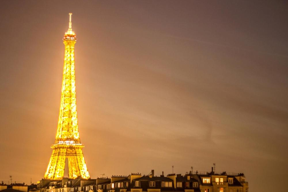 кула, Париж, забележителност, архитектура, небе, град, центъра