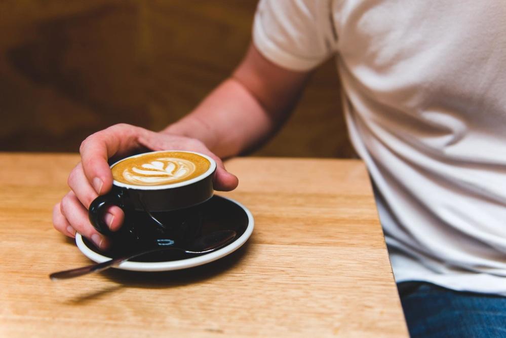 coffee cup, hand, finger, man, person, caffeine