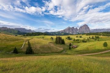пейзаж, Хил, трева, природа, земя, пасища, Хайленд, поляна, поляна