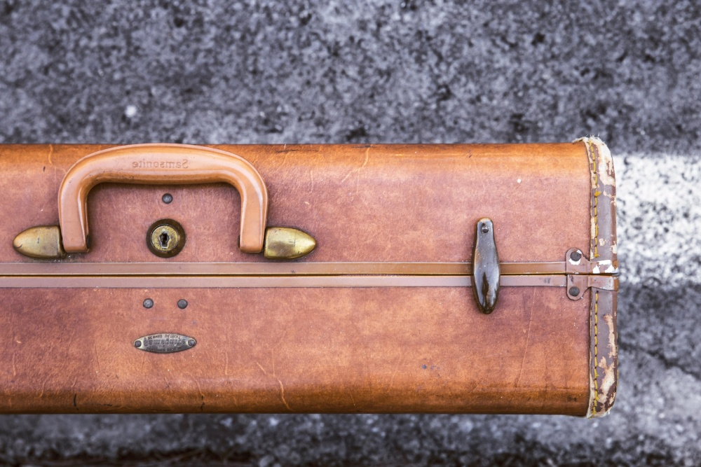 luggage, leather, lock, case, wood, antique, retro, old