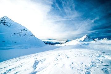 Nieve, invierno, hielo, frío, helada, cielo, paisaje, nube