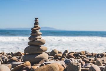 море, плаж, вода, океан, баланс, природата, морския бряг, каменни