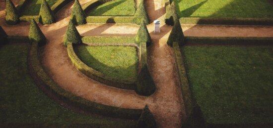 garden, park, grass, lawn, art, architecture, tree, daylight