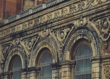 Arquitectura, religión, iglesia, viejo, antiguo, arco, fachada