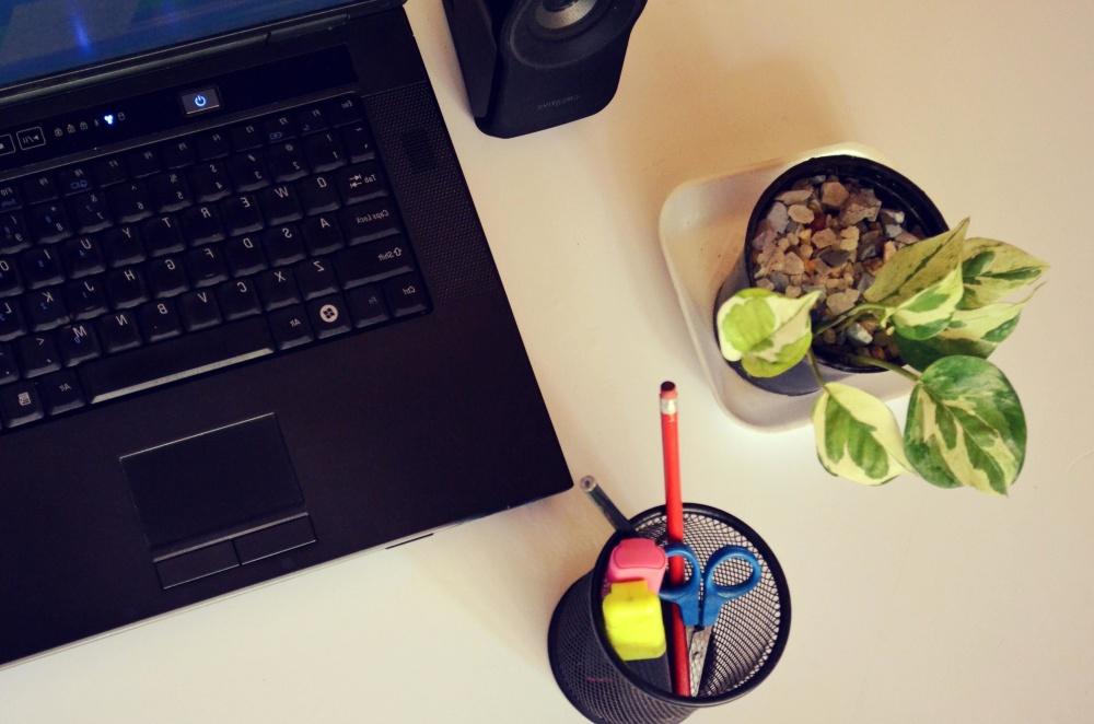 laptop computer, technology, internet, device, desk, office