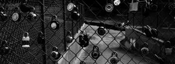 wire, iron, steel, security, padlock, monochrome