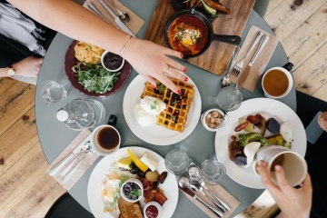 Nourriture, repas, couteau, dîner, restaurant, déjeuner, table, banquet