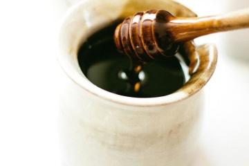 Miel, comida, desayuno, taza, cerámica, dieta