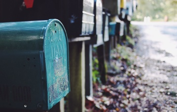 пощенска кутия, обект, метал, стар, градски, град, асфалт, улица
