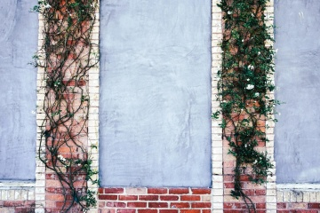 tua, Desain, retro, dinding, exterior, dekorasi