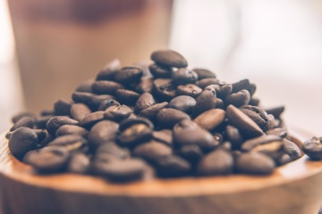 Lebensmittel, Holz, Kaffee, Koffein, trinken, dunkel, Samen, Espresso, Ernährung