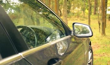 Voiture, véhicule, pare-brise, automobile, volant, miroir