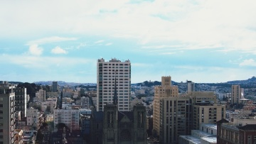 Ville, architecture, paysage urbain, centre-ville, métropole, tour, bâtiment, ciel