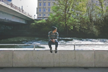 water, people, daylight, river, tree, vehicle, landscape, man, lifestyle