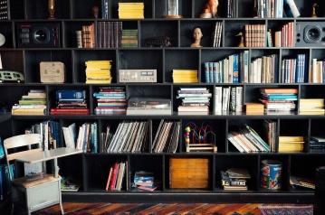 Bibliothèque, bibliothèque, étagère, éducation, mobilier, librairie