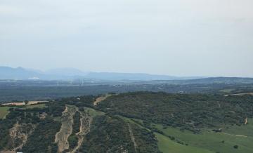 bjerg, sky, natur, dagslys, landbrug, hill, træ, dalen, landskab, sommer, landskab, hill, sommer