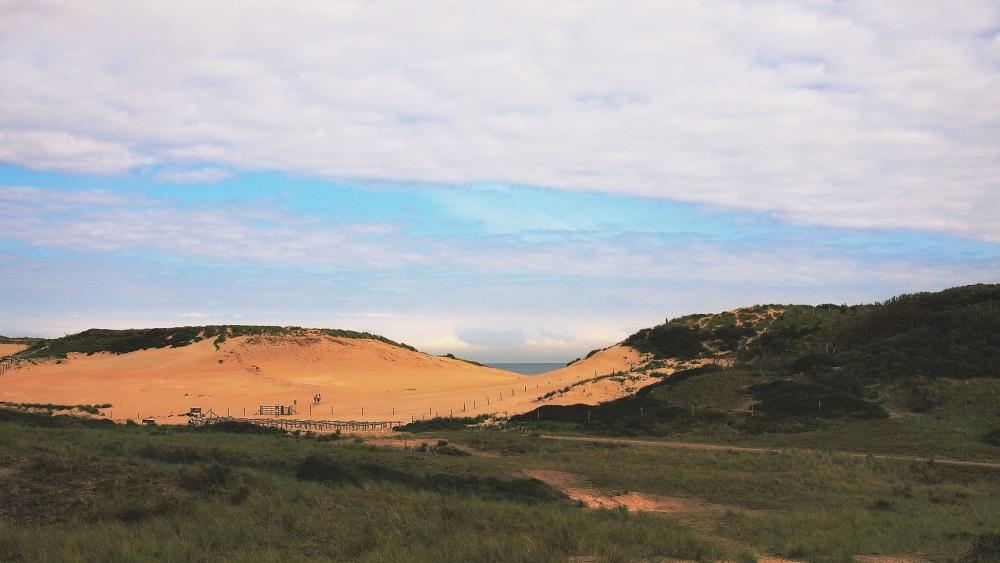 Hill, himmel, græs, eng, landskab, highland, bjerg