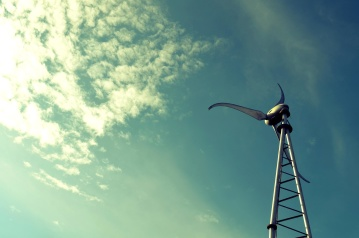 sky, wind, turbine, sun, daylight, energy, electricity