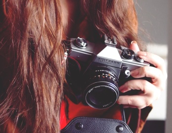 pretty girl, photographer, retro, old, lens, paparazzi, woman, zoom, photo camera