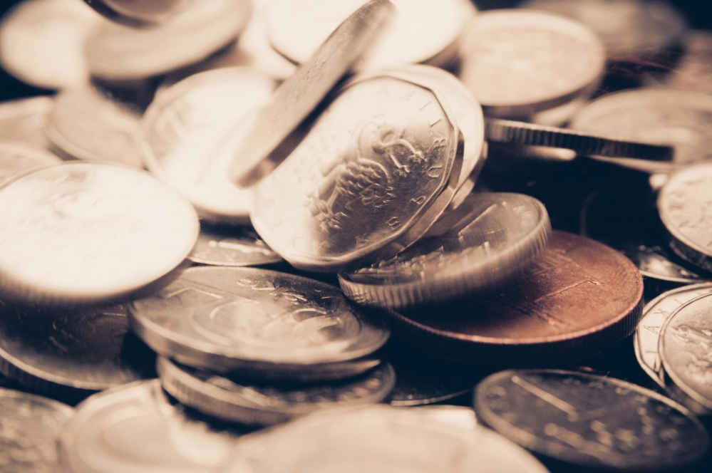 penger, valuta, metall mynt, metall