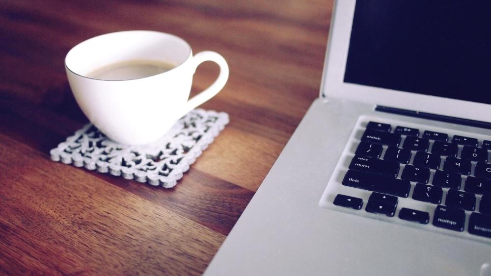 Café, café, ordinateur portable, technologie, lieu de travail, bureau