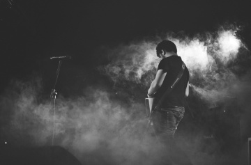 people, monochrome, smoke, portrait, man, music
