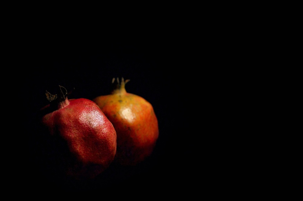 fruit, food, still life, photo studio, pomegranate