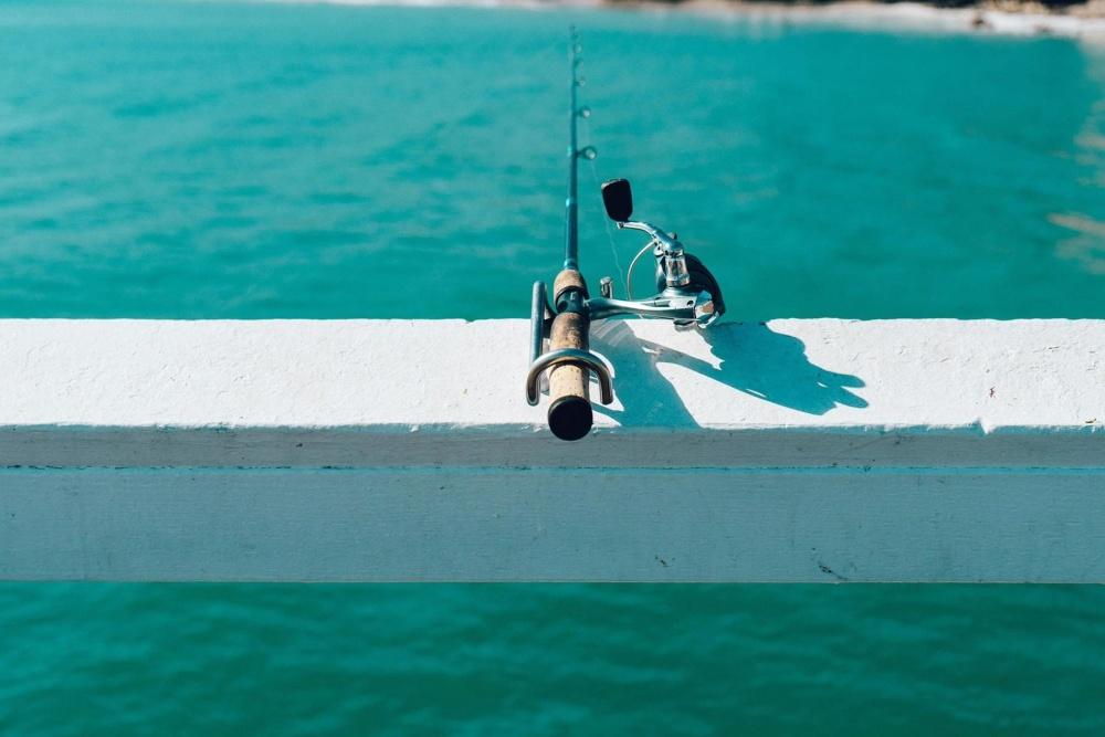 Pesca, objeto, herramienta, agua, mar, océano, deporte, litoral